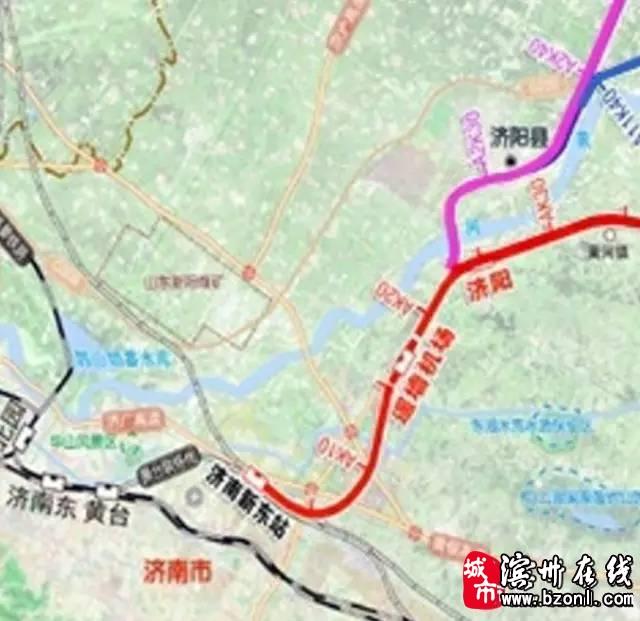 济南至滨州高铁线路图疑似曝光,大家看看是否经过你家