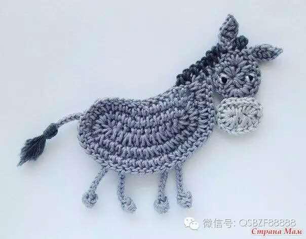 钩针编织小动物图解_毛线钩小动物玩偶图解
