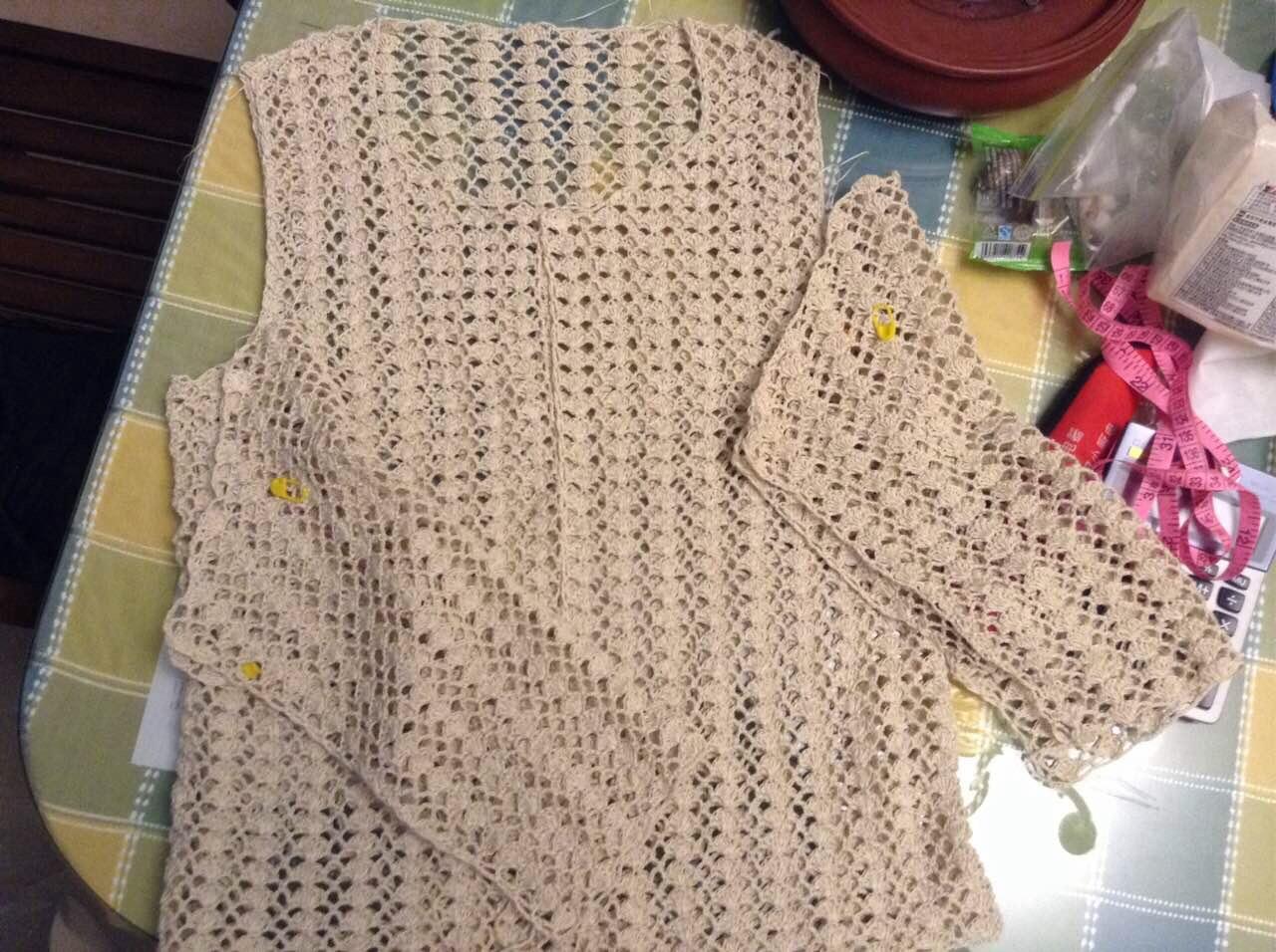 灰蓝简单钩衣 | 编织人生论坛